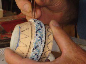 Fabrication du Petit Vase en Mosaïque en 2013