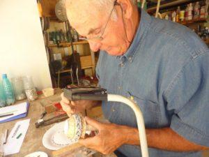 Fabrication du Petit Vase en Mosaïque en 2013 (16)